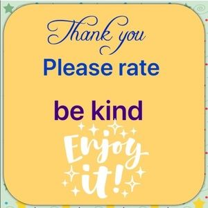 Other - Be kind & Rate